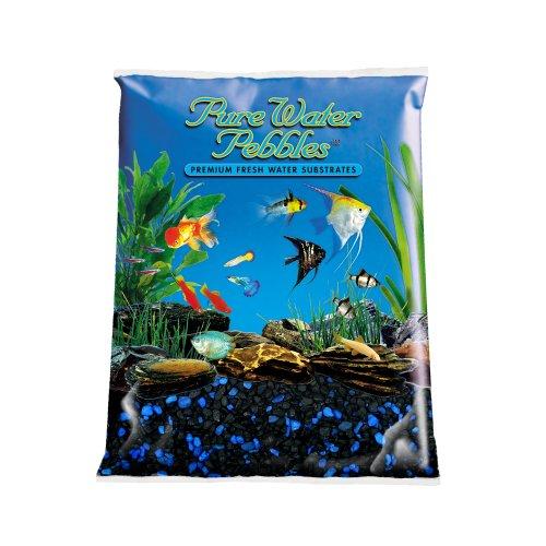 Pure Water Pebbles Aquarium Gravel, 5-Pound, Midnight Glo ()