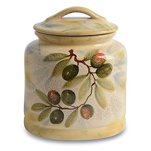 Italian Dinnerware – Cookie Jar – Handmade in Italy from our Extra Virgin Collection