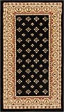 Noble Palace Black French European Formal Traditional Area Rug 2x4 ( 2'3'' x 3'11'' ) Easy to Clean Stain Fade Resistant Shed Free Modern Contemporary Floral Transitional Soft Living Dining Room Rug