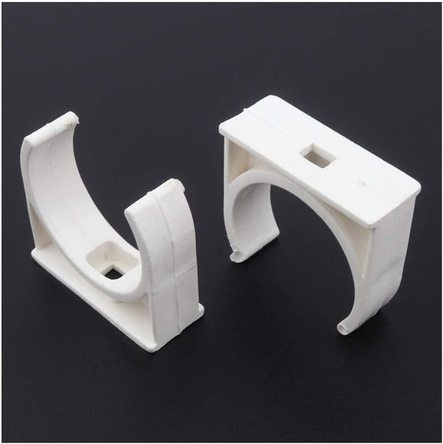 WFBD-CN Pipe Fittings 50pcs/lot ID 20~50mm PVC Pipe Clamp Garden Micro Irrigation Fittings U-Type Pipe Strap Garden Water Connectors pipe Connection (Color : White 40mm) White 32mm
