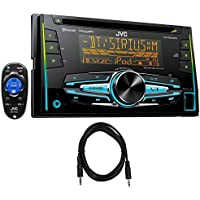 Package: JVC KW-R920BTS Double-Din In-Dash Stereo/CD Player/Receiver With Bluetooth + Trisonic 6 Foot 3.5 P-Text 24/48 Aux Input Wire