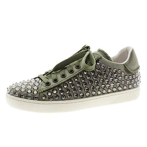 Lola Cruz 085z85 Cristales Sneakers Kaki UpnTHrUF