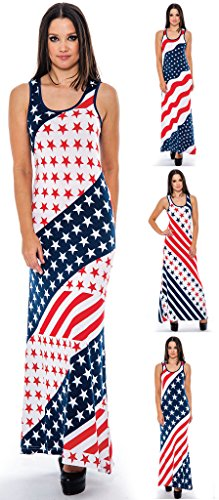 Enimay-Womens-July-4th-American-Flag-Summer-Long-Maxi-Dress-Stars-and-Stripes