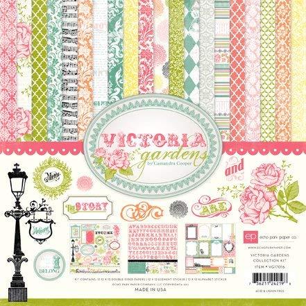 Echo Park - Victoria Garden by Cassandra Cooper Scrapbooking Collection Kit - Copyright 2011