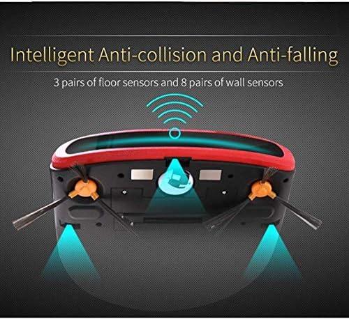 Robot Balayer, Quiet Work Aspirateur de Recharge Automatique robotisée avec Animaux de Fourrure Cheveux poussière Plancher Dur à Tapis hsvbkwm