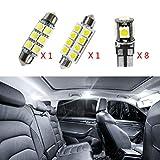 Para volvo S60 2011-2015 Coche de Interiores LED Bombillas Lámpara de Luz LED de Coches Foco de Repuesto 12V Blanco 10 Piezas