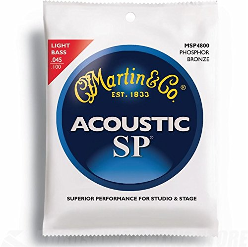 Martin MSP-4800 SP-92/8 Acoustic Bass Strings, Light (Martin Acoustic Bass)