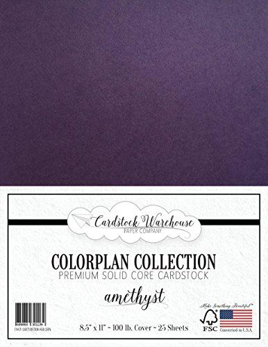 AMETHYST PURPLE Cardstock Paper - 8.5 x 11 inch Premium 100
