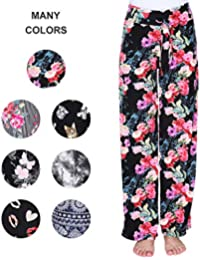 Buttery Soft Pajama Pants for Women – Floral Print...