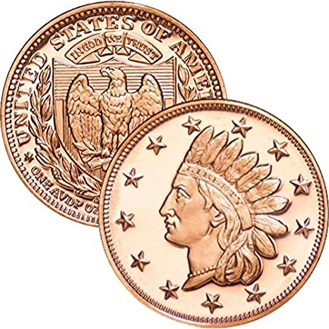 Lot of 100-1 oz Copper Round Indian Head Cent