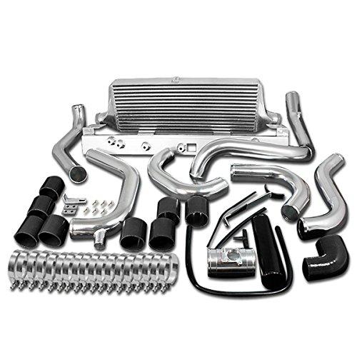 Subaru Impreza WRX Front Mount Intercooler+Piping Kit (Black Hoses) - (Subaru Front Mount Intercooler)