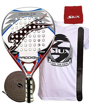 Slazenger Prodigy Pala, Unisex, Blanco/Negro/Rojo/Azul: Amazon.es: Deportes y aire libre