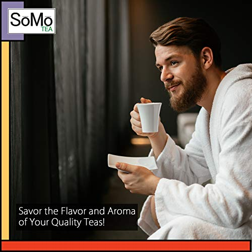 SoMo Tea, Premium Loose Leaf Tea Sampler Set | Harvest & Hearth | 6 Assorted Holiday Flavors of the Season, 20+ Cups, Hot Tea Variety Pack with Fall and Winter Spices, Gift Box Set
