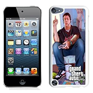 Lovely and Durable Cell Phone Case Design with GTA 5 Jimmy Playing Videogames iPod Touch 5 Wallpaper in White