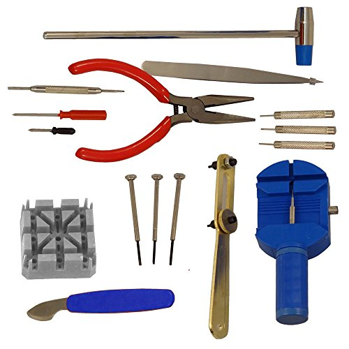 SE 16-Piece Watch Repair Tool Kit ()