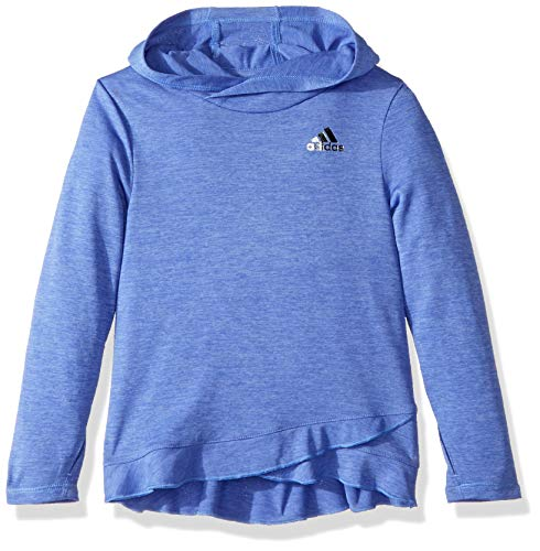 adidas Girls' Little' Performance Hoodie, Real Lilac Heather ADI 1, 4