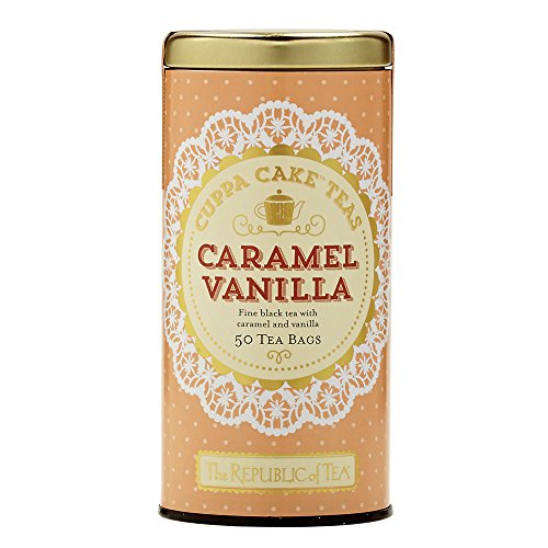 The Republic Of Tea Caramel Vanilla Cuppa Cake, Blended Fine Black Tea, Gluten-Free