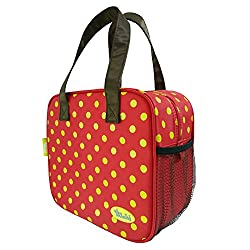Insulated Lunch Bag Modern and Pretty Lunch Tote Bag (Red)