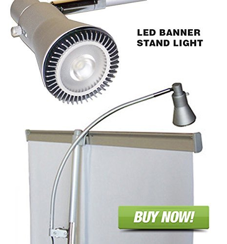 Signworld Banner Stand Light - LED Clip On for Retractable Roll Up Banner Displays & Trade Show Booths (Display Retractable)