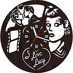 Wooden Wall Clock i Love Lucy tv Show Series Gifts for Men Women her Fans mom dad Home Decorations Pillow Shirt Mug Christmas Wedding Art DVD Vinyl