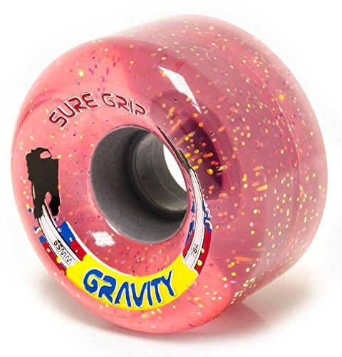 Sure-Grip Gravity Roller Skate Wheels Pink