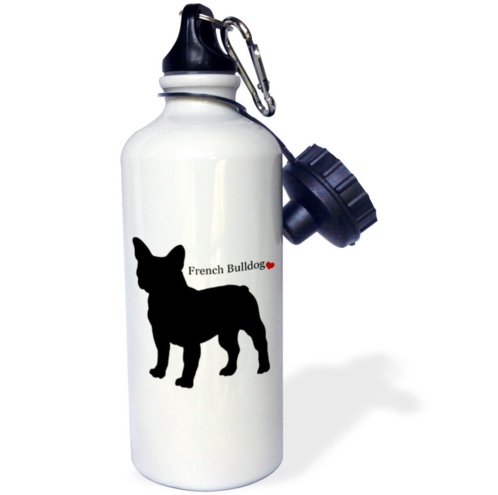 3dRose wb/_193334/_1French Bulldog Sports Water Bottle 21 oz Multicolor  Sports Water Bottle 21 oz Multicolor
