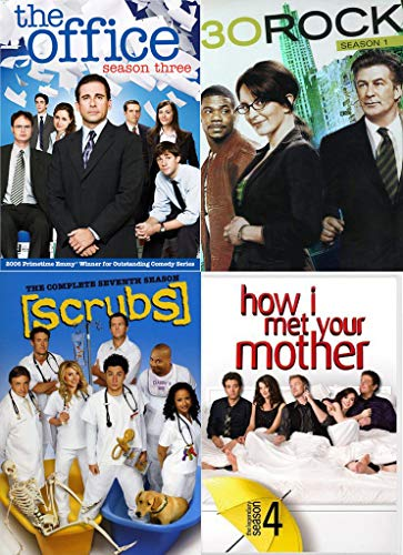 Welcome to the 90's 4 TV Shows 30 Rock / Scrubs / The Office / How I Met Your Mother DVD Awesomeness Funny Set