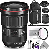 Canon EF 16-35mm f/2.8L III USM Lens w/ Advanced Photo and Travel Bundle - Includes: Altura Photo Sling Backpack, Monopod, UV Protector, Camera Cleaning Set