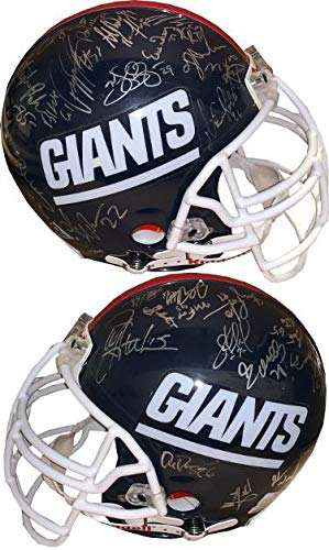 1990 New York Giants SB XXV Champs Team Signed Official Proline Helmet- 33 sigs LOA Lawrence Taylor/Mark Bavaro/Carl Banks - JSA Certified