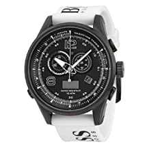Hugo Boss 1512802 40mm Stainless Steel Case White Silicone Mineral Men's Watch