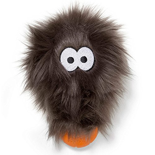 Image of West Paw Rowdies with HardyTex and Zogoflex, Durable Plush Dog Toy for Small to Medium Dogs, Rosebud, Pewter Fur