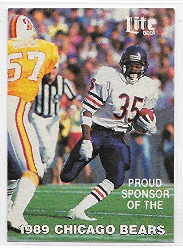 1989 Chicago Bears Pocket Schedule By Miller Lite Beer