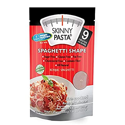 Skinny Pasta Spaghetti Shape 9.52 oz (6 Pack) - The Only Odor Free 100% Konjac Noodle - Pasta Weight loss - Low Calorie Food - Healthy Diet Pasta from Skinny Pasta