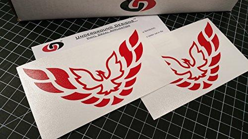 (FIREBIRD Pillar Decal Trans Am Window Sticker SELECT COLOR (Gloss Red))