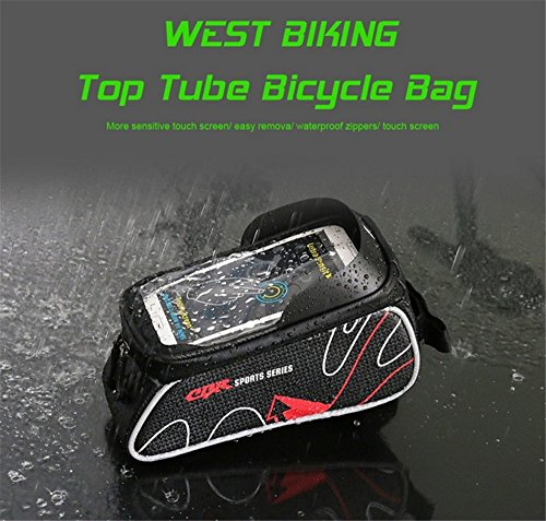pocket bag cell touch bag Bike bottle bicycle frame phone screen dust proof waterproof bagbike water zipper bag ZYPMM phone wRqPfw