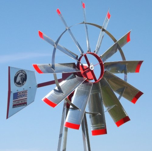 - 23' Pond Aerator Windmill | American Eagle | Wind Mill Aeration System Kit | Strong 4 Leg Tower
