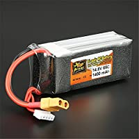 Quickbuying Reachargeable Lipo Battery ZOP Power 14.8V 1400mAh 65C 4S Lipo Battery XT60 Plug For RC Model