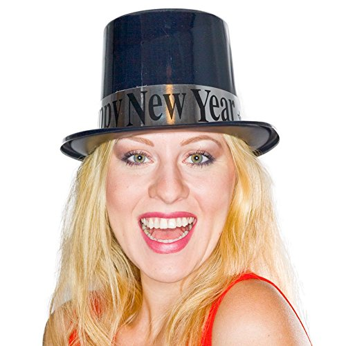 Hat Top Year Happy New (Party Time Manufacturing Happy New Year Top Hat)