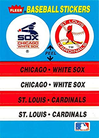 on sale 14a5f cb184 1987 Fleer Team Stickers Baseball Card #NNO Chicago White ...