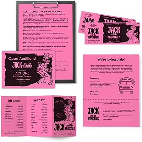 """Astrobrights Color Paper, 8.5"""" x 11"""", 24 lb/89 GSM, Pulsar Pink, 500 Sheets (21031)"""