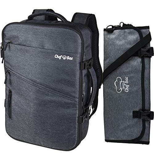 Amazon.com: Juego de mochila para cuchillos de chef con ...