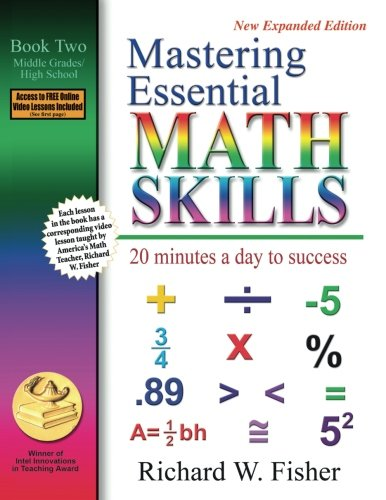 Mastering Essential Math Skills: 20 Minutes a Day to Success, Book 2: Middle Grades/High School cover