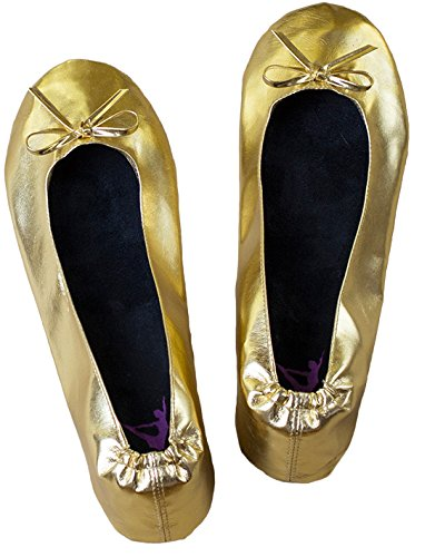 Ballerina2Go , Ballerines pour femme Or - Gold