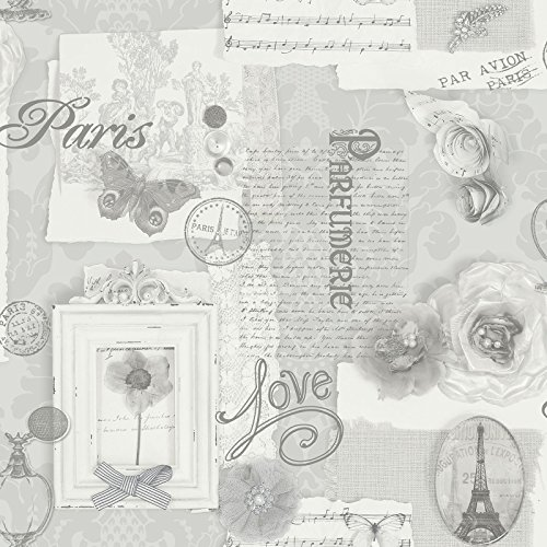 1.75' Flower (Felicity Paris Wallpaper - Grey - 665401)