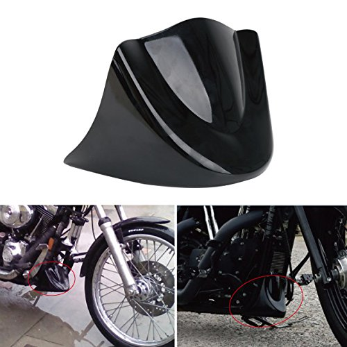 Gloss Black Lower Front Chin Spoiler Air Dam Fairing Cover for Harley 2006-Up Dyna (Steel Side Boxcar)