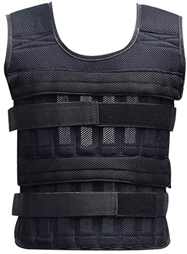 Genlesh 20kg Weighted Vest, Adjustable Loading Weight Jacket Exercise Weightloading Vest Boxing Training Waistcoat for…