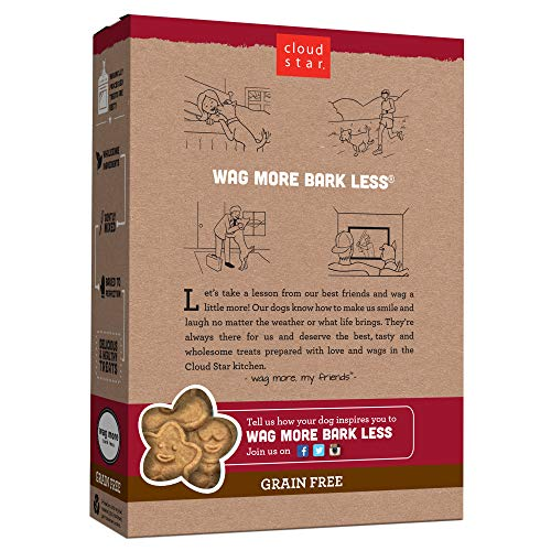 Cloud Star Wag More Bark Less Grain Free Oven Baked Treats with Pumpkin -14 oz.