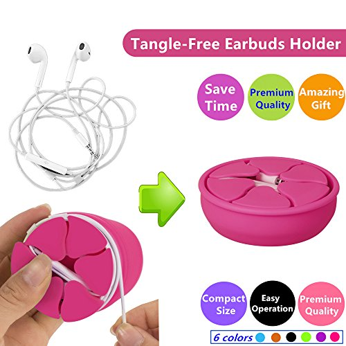 Tangle-Free Earbuds Holder Storage Case Earbuds Holder Wrap