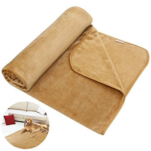 UEETEK Pet Throw Blanket Warm Soft Bed Blanket Flannel Fabric Bed Cover for Dogs and Cats 55