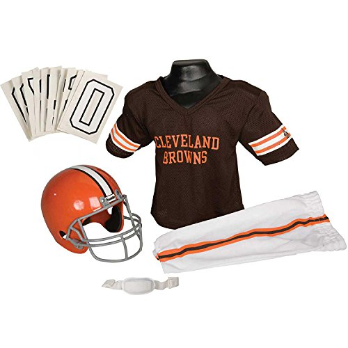 Franklin Sports NFL Cleveland Browns Youth Licensed Deluxe Uniform Set, Large